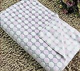 Weiche Haustier-Matte Katzen Hunde Decken Superweiche dünne Decken für Babybetten/Katzen Hunde Betten (M: 60 * 80cm, Dots-pink)