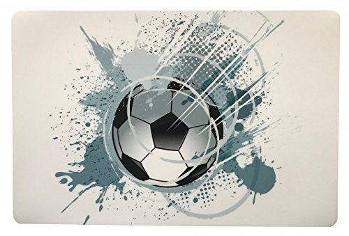Schreibtischunterlage Ball Fußball grau weiß 40 x 60 cm abwischbar