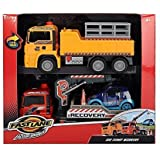 Fast Lane Pump Action Worker with Crane Truck Twin Pack by Toys R Us