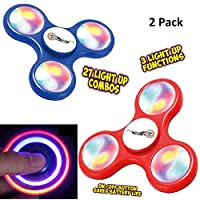 Top Race Fidget Spinner Finger Spinner - Juego de 2 juguetes con luces LED de TopRace
