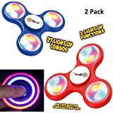 Top Race Fidget Spinner Finger Spinner Toy con luces LED (juego de 2)