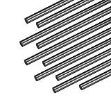 """sourcing map 4mm Barre Fibre Carbone Pour RC Avion Opaque pôle US, 200mm 7.8"""", 10Pcs"""