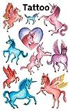 Avery Zweckform 56669 Kinder Tattoos Einhörner (temporäre Transferfolie, dermatologisch getestet) 10 Aufkleber