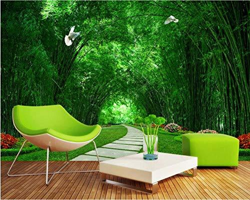 3D wallpaper 3d TV Hintergrund große Poster Bambus Forest Park Schatten Tapeten @ 200 * 140cm -