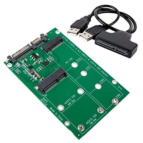 LeHang 2-en-1 NGFF ou mSATA SSD vers SATA 3.0 ou USB Adapter Converter Card M.2 et mSATA SSD vers SATA sur Le marché