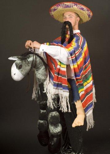 Struts Fancy Dress Reiten Sie auf Esel mexikanischen Kostüm (Esel Reiten Kostüm)