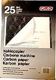 Herlitz Kohlepapier für Schreibmaschinendurchschläge, A4, 25 Blatt schwarz