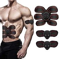 LOFFU EMS Abs Trainer, Abdominal Toning Belt Muscle Stimulator Wireless Portable Abdominal Toning Belt Toner Fitness Equipment Abdomen/Arm/Leg Training