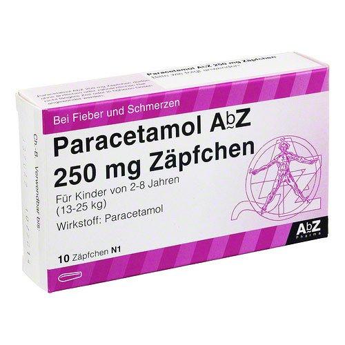 PARACETAMOL AbZ 250 mg Zäpfchen 10 St