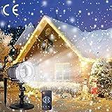 Proiettore Luci Natale, careslong Fiocchi di Neve Decorativi Spotlight di Paesaggio LED Riflettore...