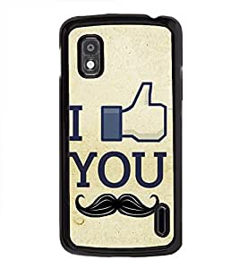 Fuson Premium 2D Back Case Cover I need you With Multi Background Degined For LG Google Nexus 4