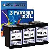 PlatinumSerie® 3 Druckerpatronen kompatibel für HP 301 XL Black Deskjet 2510 2540 2542 2544 2544 AIO 3000 3050 3050 A 3050 AIO 3050 S