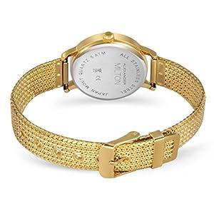 ALEXANDER MILTON Damenuhr, Edelstahl - Modell FLORA - gold/braun