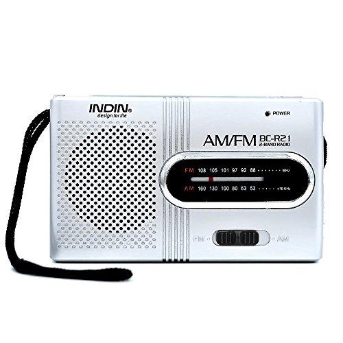 Mini radio digitaler empfang Portable Digital Pocket Radio AM Radio FM Radio Empfänger mit Teleskopantenne, angetrieben durch 2 x AA (nicht im Lieferumfang enthalten)