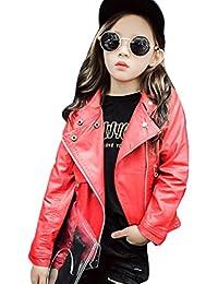 ☺Herbst Winter M/ädchen Boy Kids Baby Outwear Ledermantel Kurze Jacke Kleidung Kinder PU Stitching Lederjacke Revers Kinder