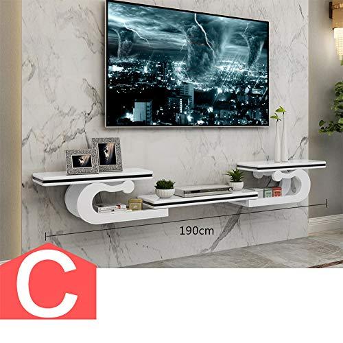 HUO Kreative Europäische Wand TV Schrank Set-Top Box Regal TV Wandregal (Farbe : C)