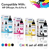 #8: ProDot Inkjet Refill Ink for Cartridge Printers Suitable with HP Deskjet,CT Series HP, Officejet, Pro & Pro X with SafeFill Needle Cyan, Magenta, Yellow, Black- (Set of 4 x 100ml)