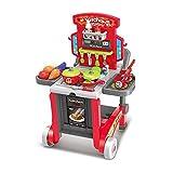 Spielzeuge Xiaomei 3 in 1 Kinder küche Set mädchen Kochen Toolbox küchenutensilien pädagogisches (Farbe : Red)