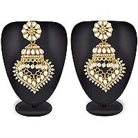 Mann Jewels Kundan jhumka earrings for women traditional - latest