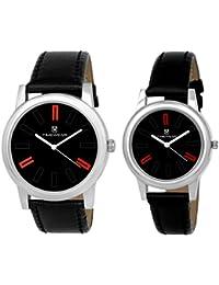 TIMEWEAR Analogue Black Dial Men's & Women's Couple Watch (922Bdtcouple)