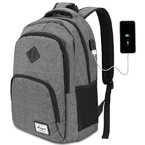 Foto de AUGUR Mochila para Ordenador Portátil Mochilas de Hombre con USB Puerto de Carga para Escolar Negocio Viajes Trabajo-35L