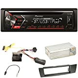 Pioneer DEH-S4000BT Autoradio USB AUX 1-DIN CD iPod MP3 Bluetooth WMA Einbauset für BMW E90 E91 E92 E93