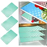 Khushi Creation Refrigerator Mats/Fridge Mats/ Multi Purpose Mats/Drawer Mats/Place Mats Set Of 6 Pcs (Multi) Coin Design (FRDM14)
