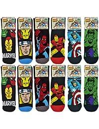 Mens Marvel Socks (12 Pack) Marvel Character Assorted Mens Socks Pink 6-11
