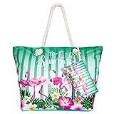 Comius Große Strand Segeltuch Reise Einkaufstasche, Damen Shopping Shopper Tasche Reisetasche Canvas Schultertasche - perfekte Einkaufstasche Für Feiertage (D)
