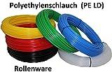 25m Polyethylenschlauch - 6/4mm (Außen-Ø/Innen-Ø) - Farbe nach Wahl (blau)