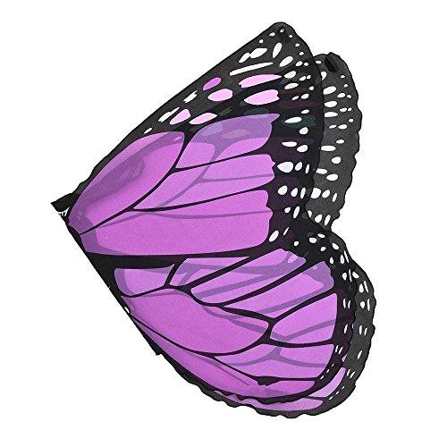 Wings Butterfly Kostüm Kinder - OVERDOSE Kind Kinder Jungen Mädchen Karneval Kostüm schmetterlingsflügel Kostüm Faschingskostüme Butterfly Wing Cape Kimono Flügel Schal Cape Tuch