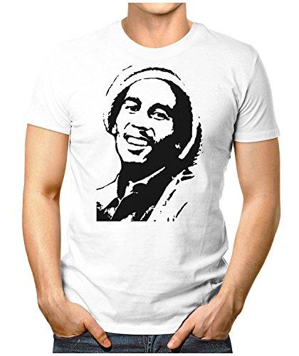 Prilano Herren Fun T-Shirt - Bob-Face - Small bis 5XL - Neu Große Farbauswahl Weiß