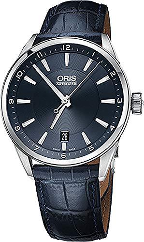 Oris Artix Date Stainless Steel on Blue leather Men's Watch 73377134035LS