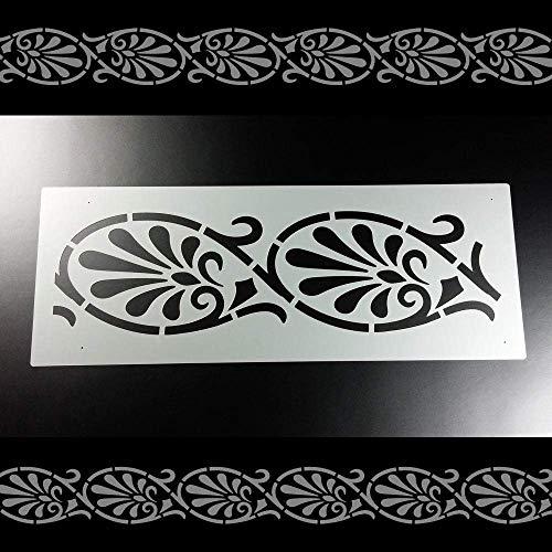 Schablone Bordüre Palmette Ornamentband Borte B2B12