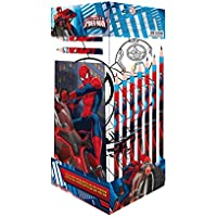 Ultimate Spiderman - Cancelleria Cubo , 25 Pezzi