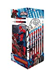 Ultimate Spiderman Cancelleria Cubo, 25 Pezzi
