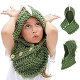 VAMEI Kids Cappello a maglia con cappuccio Cappuccio Sciarpa Cappelli  Inverno Caldo Cappelli animali per ragazze aa22acbaa954