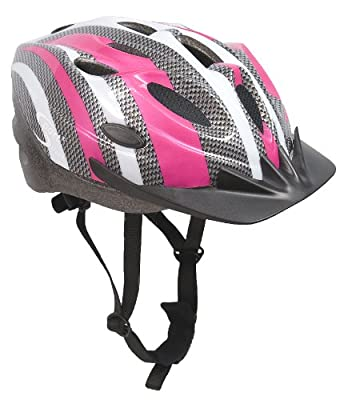 Sport Direct Bicycle Bike Cycle Pink Womens Ladies Helmet 56-58cm CE EN1078 TUV Approvals from Sport Direct
