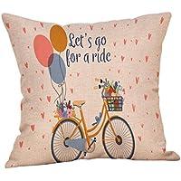 Luckhome - Funda de cojín cuadrada, diseño de amor dulce, 45 cm x 45 cm, algodón, lino, F, Tamaño libre