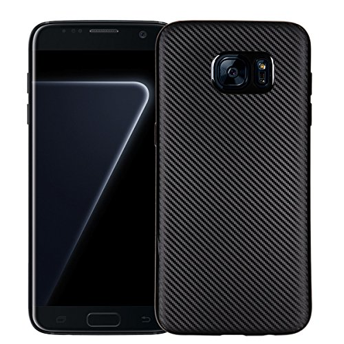 Mooncase galaxy s7 edge custodia, carbon fiber flexible armatura defender cover ultrasottile durevole antigraffio antiurto protezione case per samsung galaxy s7 edge 5.5