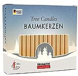 Brubaker - Confezione da 20 candele per albero di Natale, colore oro
