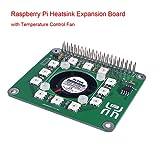 MakerHawk Raspberry Pi Kühlkörper-Erweiterungskarte mit Temperaturregler, LED Dot-Matrix und Echtzeituhr Lattice RTC für Raspberry Pi 3 Modell B, Raspberry Pi 2 und B +