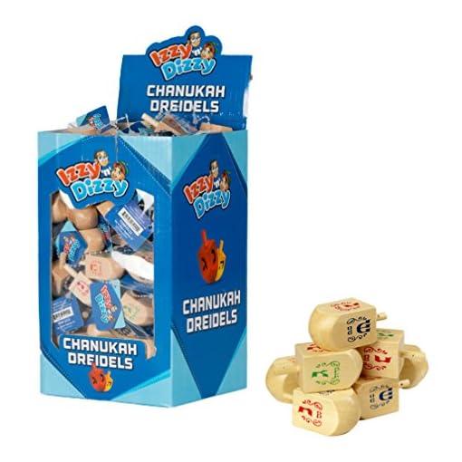 Chanukka-Kreisel-Kreisel-fr-Chanukkah-aus-Holz-Preis-fr-4-Hanukkah-Dreydle-sewiwon Chanukka Kreisel – Kreisel für Chanukkah aus Holz Preis für 4 (Hanukkah Dreydle, sewiwon) -