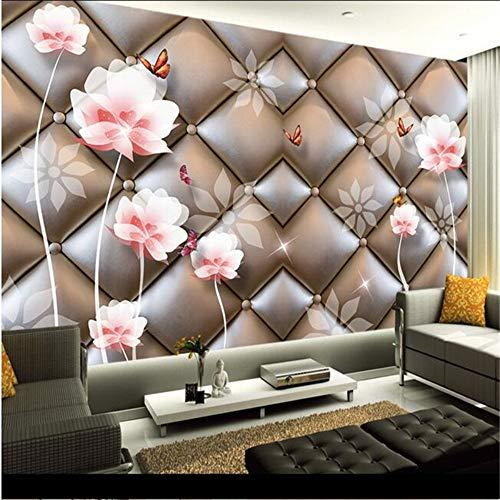 wallpaper High quality silk cloth wallpaper/living room bedroom European soft pack lotus large mural wall paper,250cmX175cm - Strand Paper Pack