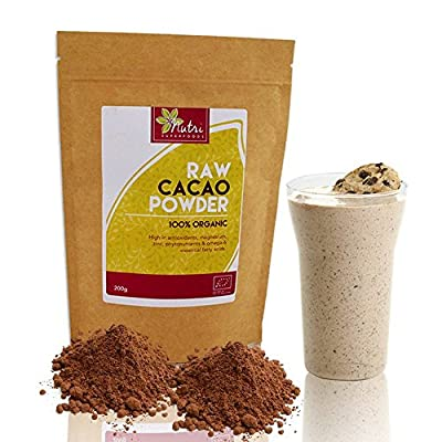 RAW Cacao Powder | Premium Organic Chocolate Ingredient | High Energy Vegan Protein | #1 Best Magnesium Rich Superfood | Full of Anti-Oxidants | Improves Heart Health and Immune System