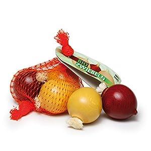 Erzi 3,4 x 13,5 x 8 cm Pretend Juega Grocery Madera Tienda mercancías Cebollas en una Red