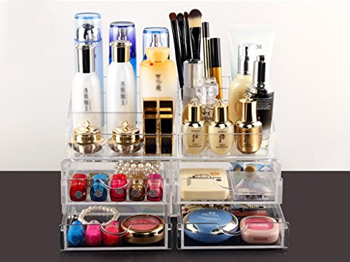 MMM Transparent Transparent Combinaison Dressing Boîte de rangement Boîte de rangement Tiroir Cosmetic