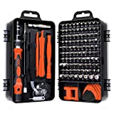 Gocheer 115 en 1 mini set tournevis precision kit tools petit boite tournevis torx informatique demontage pc portable pour macbook,iphone,réparation,lunettes,bricolage,montre,smartphone ... (Orange)