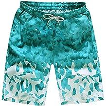 JiaMeng Hombre Deporte Secado Rápido Bañadores Pantalones Cortos Pantalones de Nadar Pantalones de Agua para Nadar