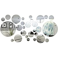 32 Pieces Removable Acrylic Mirror Setting Wall Sticker Decal for Home Living Room Bedroom Decor (Style 1, 32 Pieces)